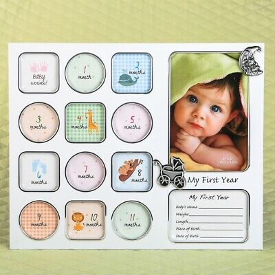 My First Year Baby Photo Collage Picture Frame New