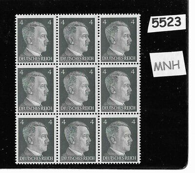 #5523   MNH stamp block / Adolph Hitler / PF04 / WWII Germany / 1941 Third Reich