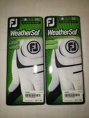 2 Footjoy FJ Weathersof Men's Golf Gloves Left Handed Size Small New in Package!