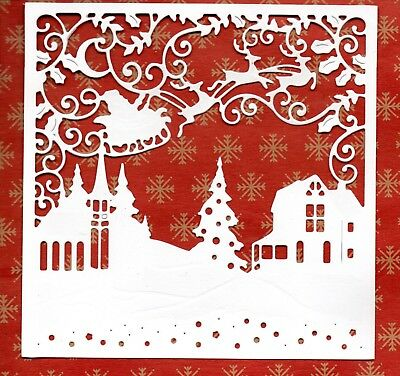 6 NEW LARGE SNOWFLAKE BACKGROUND FRAME DIE CUTS WINTER TREE CHRISTMAS TOPPER