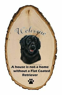 Outdoor Welcome Sign (TB) - Flat-Coated Retriever 51176