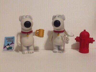 Family Guy Mezco Figures Brian Griffin Lot of 2 Different Versions Drunk & Hyper