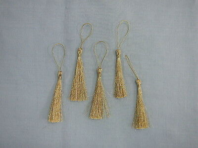 Tassels - Metallic Gold x 10