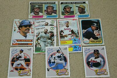 1974 topps reggie jackson mlb baseball card lot with willie stargell 80's more