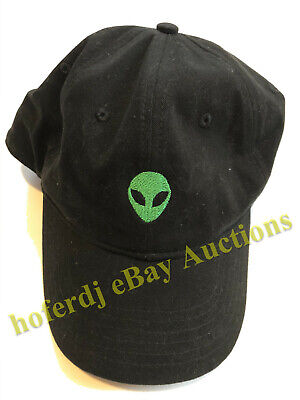 UFO Alien Head Baseball Cap Hat One Size Fits Most Adjustable Buckle Embroidered