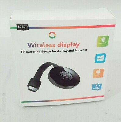 Unbranded TV Streaming Wireless HDMI Media Player Chromecast Miracast Dongle