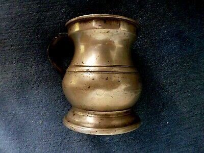 Pewter Bulbous Gill Measure Gaskell Chambers