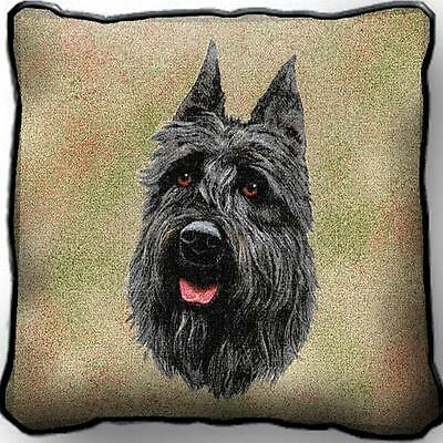 """17"""" x 17"""" Pillow Cover - Bouvier des Flandres by Robert May 1939"""