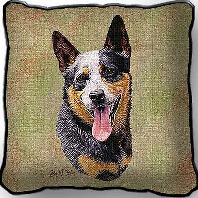 """17"""" x 17"""" Pillow Cover - Australian Cattle Dog by Robert May 3321"""