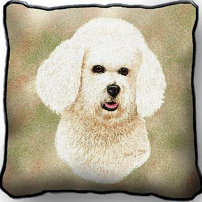 """17"""" x 17"""" Pillow Cover - Bichon Frise by Robert May 1150"""