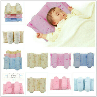 Baby Toddler Safe Anti Roll Pillow Sleep Flat Head Position Support GG