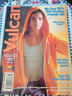 Vulcan Magazine Mr Gay Uk's Big Brother Relaunch Issue 8 1996 Gay Interest Lgbtq