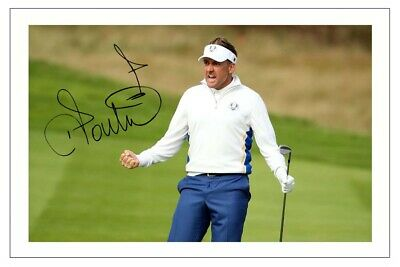 Ian Poulter Golf Signed Autograph Photo 2014 Ryder Cup