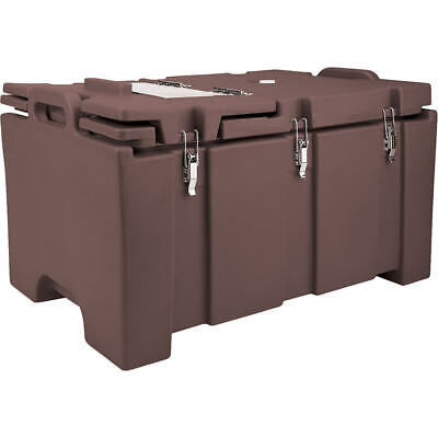 Cambro 40 Qt Cooler With Hinged Serving Lid Dark Brown 100Mpchl-131