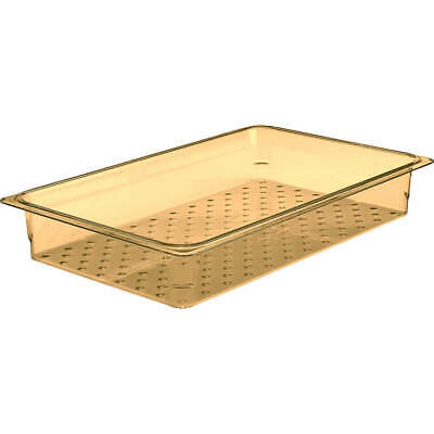 "Cambro High Heat Perforated Pan / Colander, 1/1 Gn, 3"" Deep, 6Pk Amber 13Clrhp"