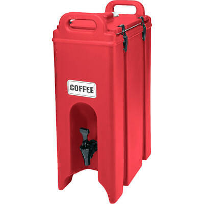 Cambro 4.75 Gal. Insulated Beverage Dispenser Hot Red 500Lcd-158