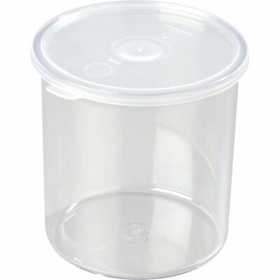 Cambro 2.7 Qt. Round Salad Bar Containers With Lid, 6Pk Clear Ccp27-152