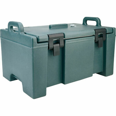 Cambro 40 Qt Cooler, Molded Handles And Easy Opening Latches Granite Green