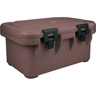 "Cambro Insulated Food Carrier For 8"" Deep Pans, Top Loading S-Series Dark Brown"