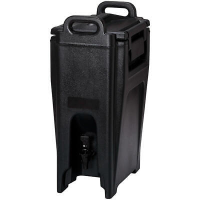 Cambro 5.25 Gal. Insulated Beverage Dispenser, Ultra Camtainer Black Uc500-110