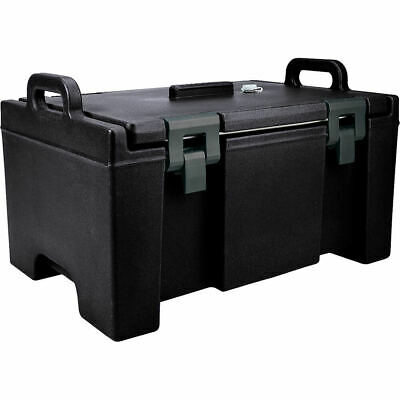 Cambro 40 Qt Cooler, Molded Handles And Easy Opening Latches Black Upc100-110