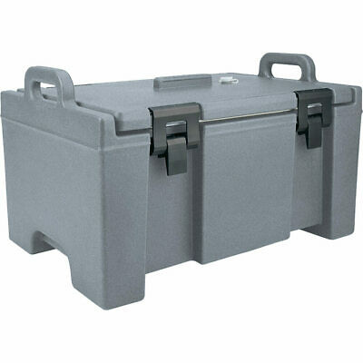 Cambro 40 Qt Cooler, Molded Handles And Easy Opening Latches Granite Gray Upc100