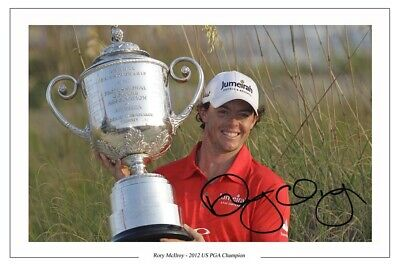 RORY McILROY GOLF SIGNED AUTOGRAPH PHOTO PRINT 2012 US PGA CHAMPION