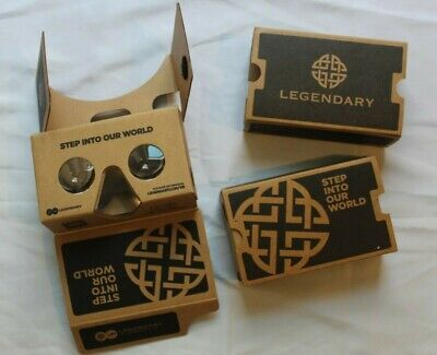 Lot of 2 SDCC Legendary Google Virtual Reality Cardboard Viewer Box Glasses