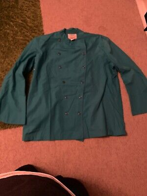 Chef Coat Culinary Classics Mens XL Teal