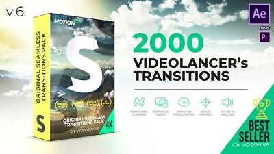 Videolancer's Transitions Original Seamless Transitions Pack V6.0 AEP