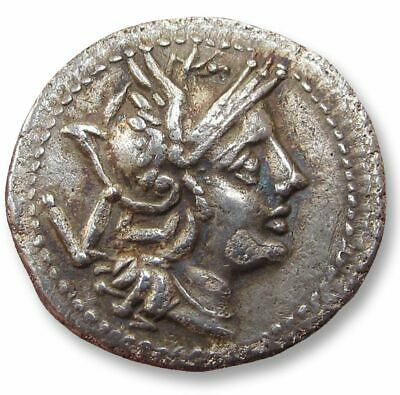 AR quinarius anonymous issue - early coin - Rome or Sicily circa 211-208 B.C.