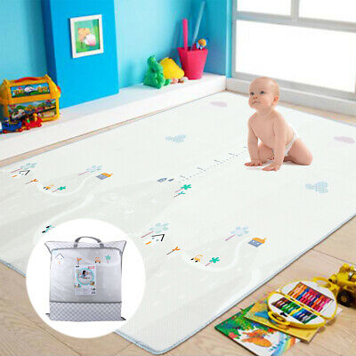 Baby Crawling Mat Carpet Fold-able Thick Waterproof Rug for Kids Climbing Play