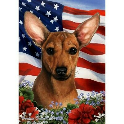 Patriotic (1) House Flag - Chiweenie 16464