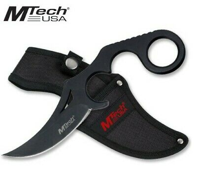 "Mt-20-38Bk M-Tech Usa 8"" Combat Military Tactical Karambit Finger Hole W/ Sheath"