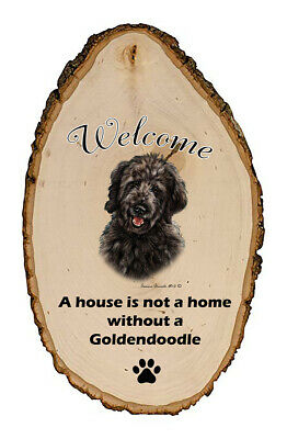 Outdoor Welcome Sign (TB) - Black Goldendoodle 51199