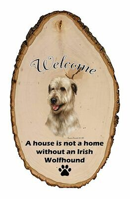 Outdoor Welcome Sign (TB) - Fawn Irish Wolfhound 51330