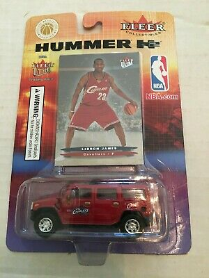 LEBRON JAMES 2003-04 FLEER ULTRA ROOKIE CARD & HUMMER TRUCK  New