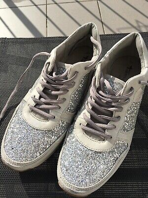 TAMARIS ACTIVE TOUCH it Damen Sneaker,Gr.39,Glitzer silber
