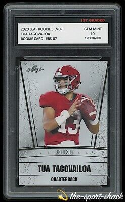 2020/20 Tua Tagovailoa Leaf Draft Picks Rookie Graded 10 Miami Dolphins RC Card