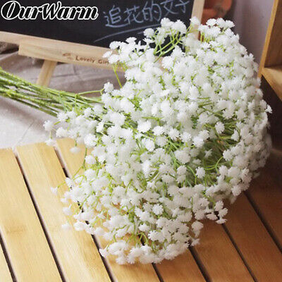 12× Artificial Flower White Gypsophila Baby's Breath Fake Floral Bouquet Party
