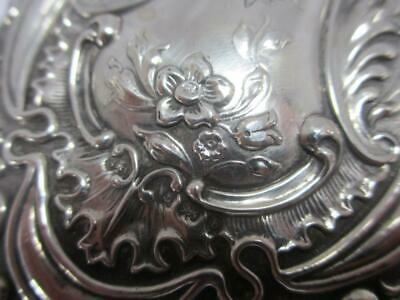 Forget Me Not Sterling Silver Ladies Hand Mirror Antique Edwardian. PRA07036