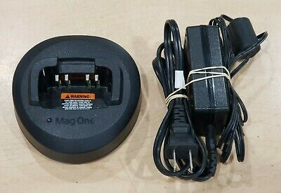 Motorola Mag One Radio Charger PMLN5041A Base + NU20-C140150-I3 Power Supply