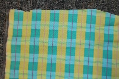 Old Tablecloth Washable Retro Green Yellow 2 Pieces