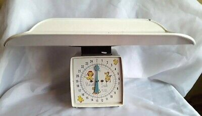 Vintage Sears Nursery Infant Baby Scale 25 Pounds w Baby Cradle