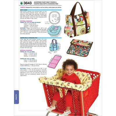 Shopping Cart Seat Cover & Diaper Bag with Changing Pad-No Size 033594364340
