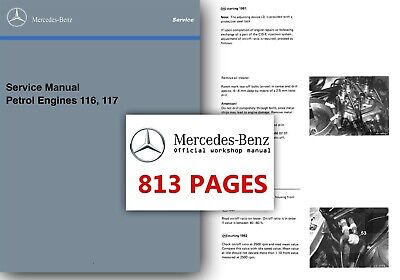 Mercedes M116 M117 Service Manual r107 w126 380 500 SL SLC SE SEC SEL Workshop