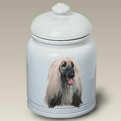 Afghan Hound Ceramic Treat Jar LP 45087