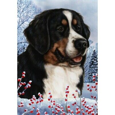 Winter House Flag - Bernese Mountain Dog 15058