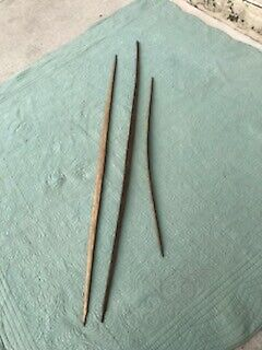 3 Native American Antique & Or Ancient Hand Carved Wooden Hunting Archery Bow