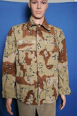 Vintage Desert Storm 6 color chocolate chip US Air Force BDU jacket M Issued